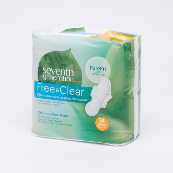 Seventh Generation 14-Piece Maxi Chlorine Free Sanitary Pad Pack