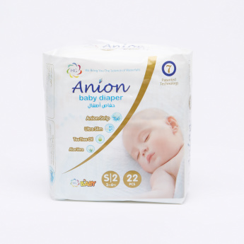 HG Anion 22-Piece Baby Diapers - Small