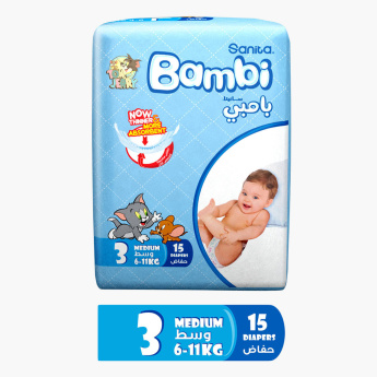 Bambi 15-Piece Diapers - Size 3