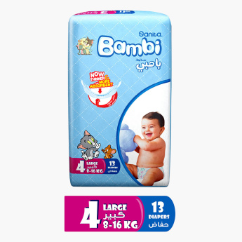 Bambi Tom and Jerry Large Size 8 13-Piece Diaper Pack
