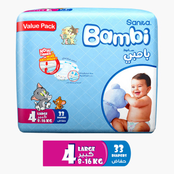 Bambi Large 33-Piece Value Pack Diapers