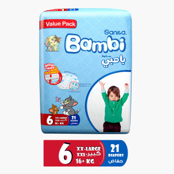 Sanita Bambi 21-Piece Baby Diapers - XXL