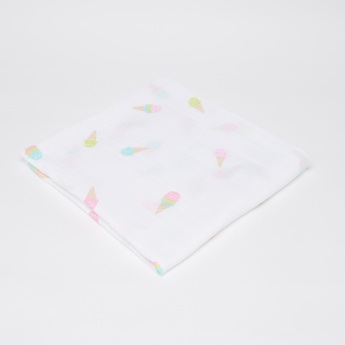 lulujo Ice-Cream Printed Swaddle Wrap