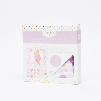 lulujo Baby's First Year Milestone Blanket and Card Set