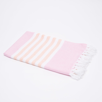 lulujo Striped Towel with Tassels