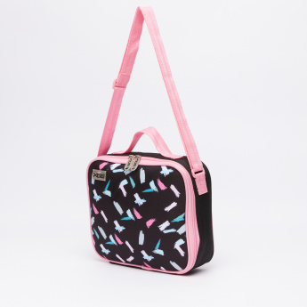 Printed Lunch Bag with Zip Closure