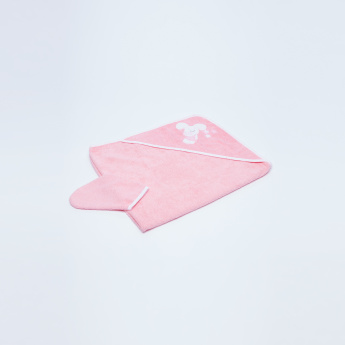 Juniors Embroidered Towel with Hood and Mitten