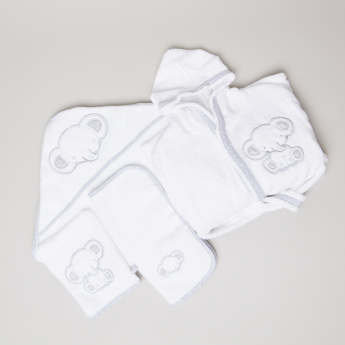 Giggles Applique Detail 4-Piece Bath Set