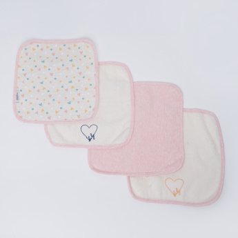 Giggles Assorted Wash Cloth - Set of 4