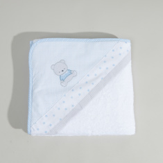Cambrass Embroidered Hooded Towel - 80x80 cms
