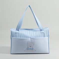 Cambrass Printed Diaper Bag with Zip Closure