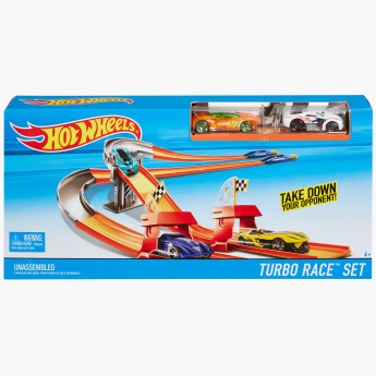 Hot Wheels 3-in-1 Race Track with 2 Cars