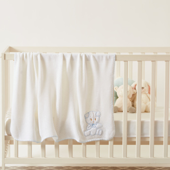 Juniors Bear Applique Detail Shawl - 100x100 cms