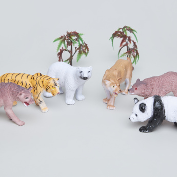 8-Piece Toy Wild Animals Set