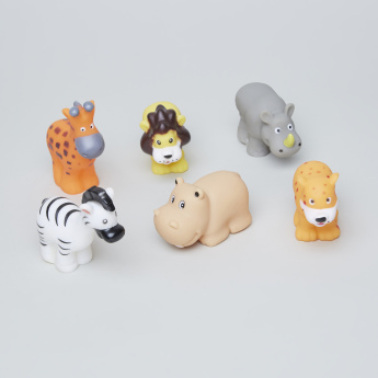 Safari Wild Animal Toys 6-Piece Playset