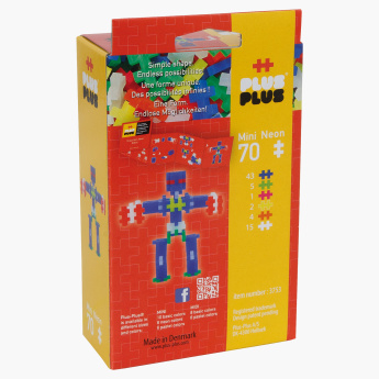 Plus-Plus Mini Neon Robot 70-Piece Blocks Playset