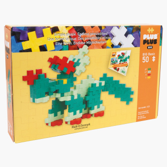 Plus-Plus Big Basic 50-Piece Dinosaur Bricks Playset