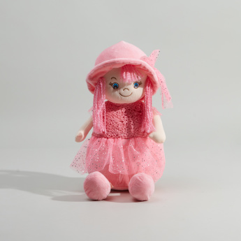 Juniors Doll Shaped Backpack with Zip Closure