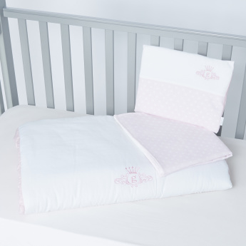 Giggles Embroidered 3-Piece Bedding Set