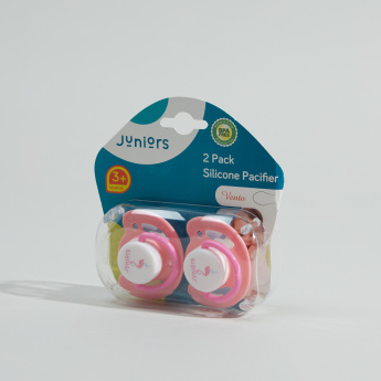 Juniors Printed Silicone Soother - Pack of 2