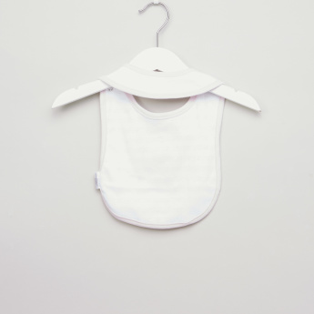 Juniors Embroidered Bib with Button Closure