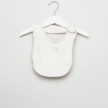 Juniors Printed Cotton Bib with Bow Detail