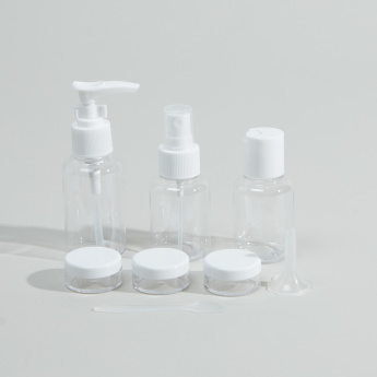 Compact 8-Piece Travel Bottle Set