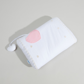 Juniors Pillow with Heart-Shaped Dangling Rattle