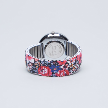 Charmz Printed Wristwatch with Crystal Detail