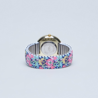 Charmz Printed Wristwatch with Studded Detail