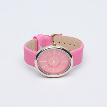 Charmz Wristwatch with Textured Strap