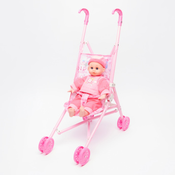 Doll with Stroller Playset