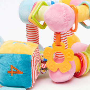 Giggles Activity Giraffe Cube with Squeaker Rings and Teether