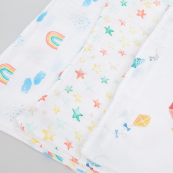 lulujo Printed Swaddle Blanket - Set of 3