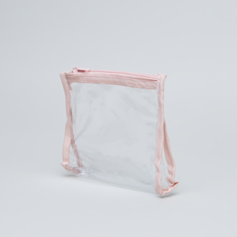 See-Through Travel Bag with Zip Closure