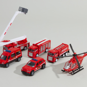Die-Cast Fire Rescue Vehicle Playset