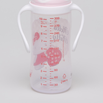 Tigex Hello Kitty Printed Feeding Bottle with Handles - 300 ml