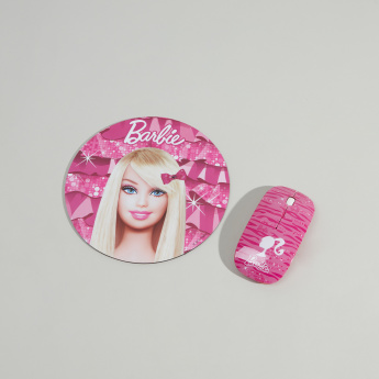 Barbie Printed Wireless Mouse and Mouse Pad Set
