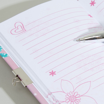 Printed Padlock Diary and Lipstick Pen Set