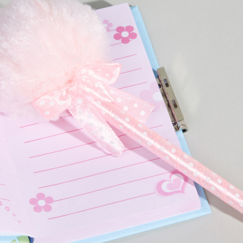 Flamingo Printed Mini Lock Diary with Pom-Pom Detail Pen