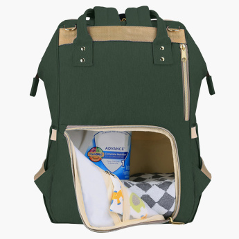 Sunveno Embroidered Diaper Backpack with Adjustable Straps