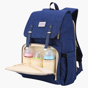 Sunveno Travel Diaper Backpack with Flap and Adjustable Straps