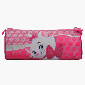 Marie Printed Round Pencil Case with Zip Closure
