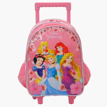 Princess Printed Trolley Backpack with Zip Closure