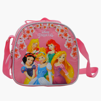 Princess Printed Lunch Bag with Zip Closure and Adjustable Strap