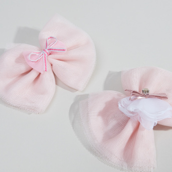 Charmz Bow Detail Hairpin - Set of 2