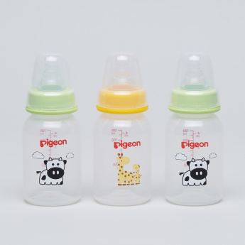 Pigeon Printed Feeding Bottle - Set of 3