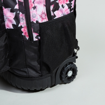 Floral Print Trolley Bag
