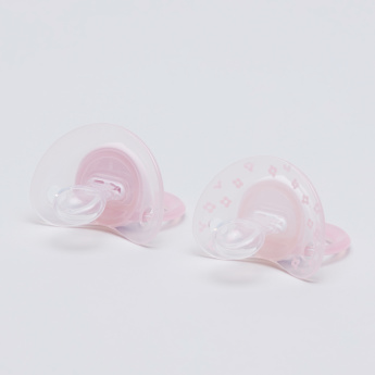 NUK Baby Rose Printed Soother - Set of 2