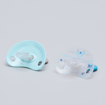 NUK Happy Days Printed Soother with Handle - Set of 2